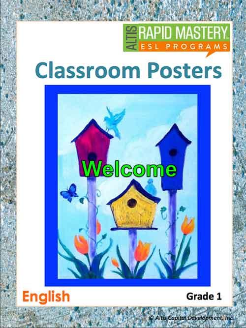 Grade 1 (English) - Classroom Poster Set